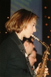 Trish on sax